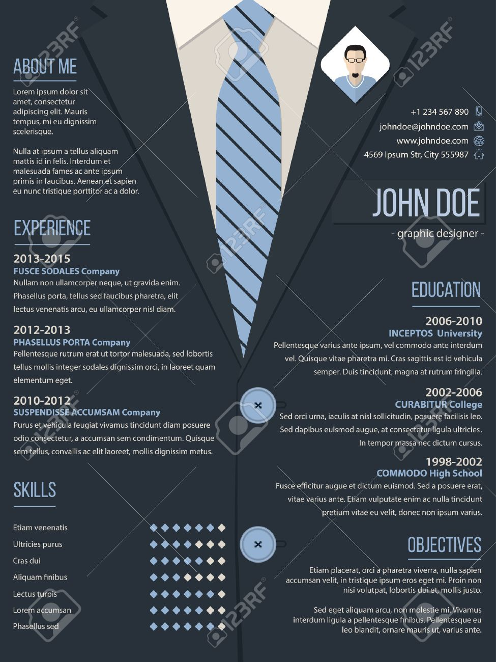 Cool Resume Cv Curriculum Vitae Template Design With Business