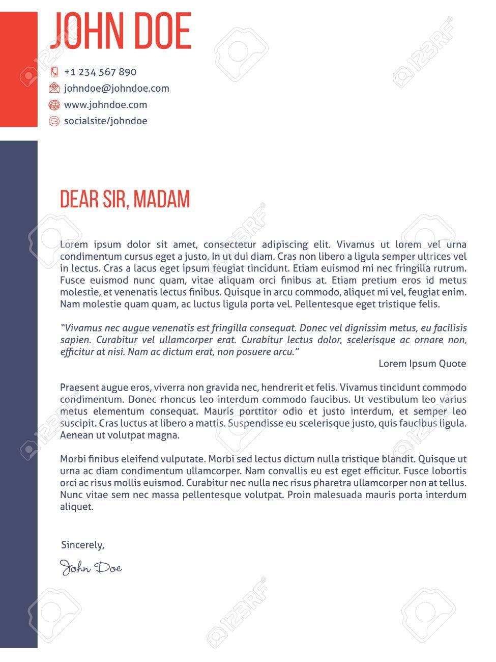 Simplistic Yet Modern Cover Letter Curriculum Vitae Cv Resume