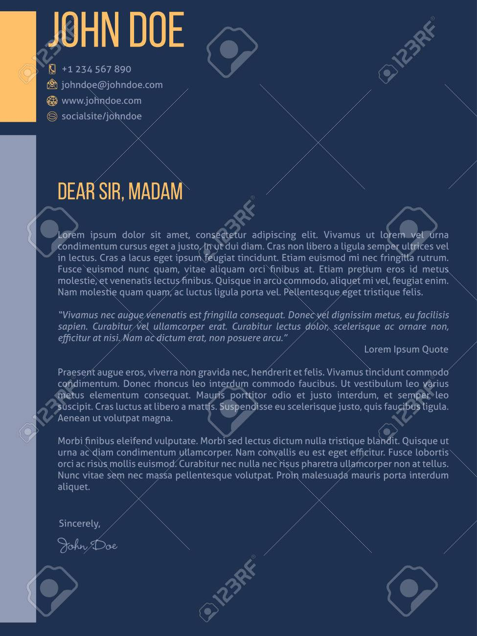 Simplistic cover letter curriculum vitae cv resume template design simplistic cover letter curriculum vitae cv resume template design in dark blue stock vector 43218880 thecheapjerseys Images