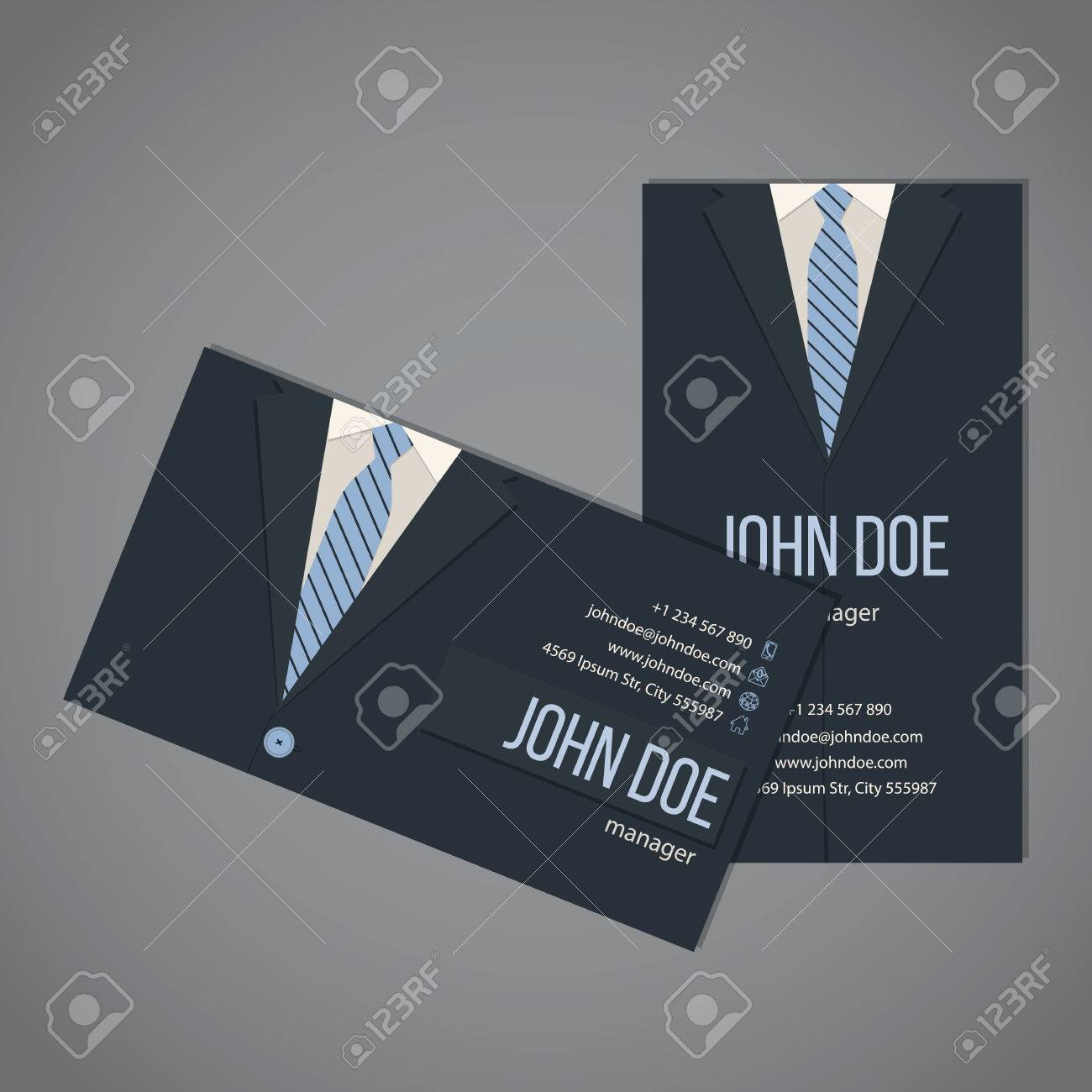 Business suit business card template design in dark and light business suit business card template design in dark and light blue color stock vector 45140815 cheaphphosting Gallery