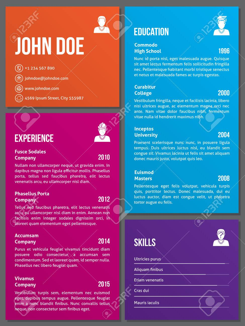 metro design curriculum vitae cv resume template royalty metro design curriculum vitae cv resume template stock vector 45140826