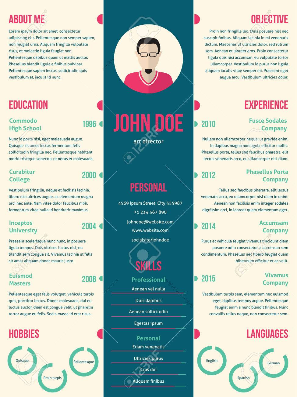 Modern Resume Cv Curriculum Vitae Template Design For Employment