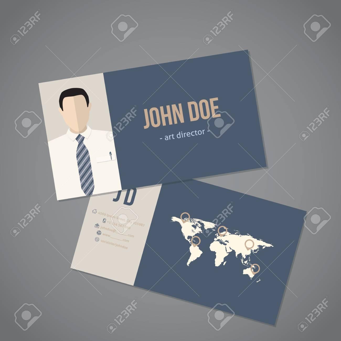 Modern business card with world map design royalty free cliparts modern business card with world map design stock vector 53173453 colourmoves