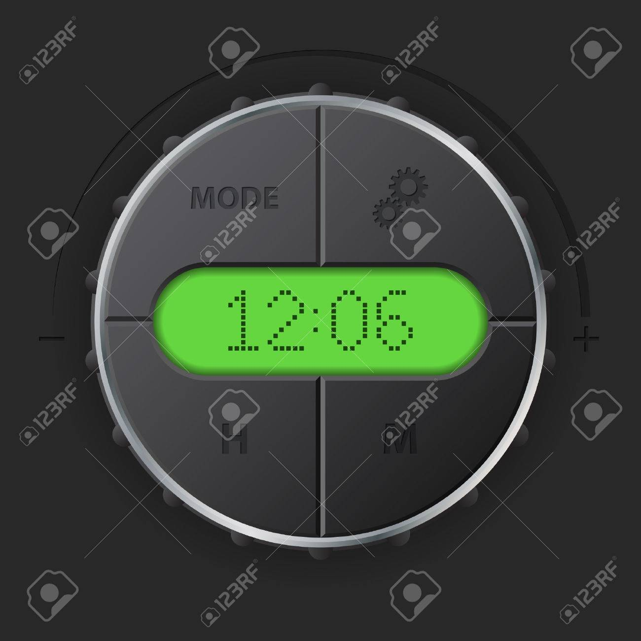 Digital clock with green lcd and setting buttons for car dashboard digital clock with green lcd and setting buttons for car dashboard stock vector 56449852 biocorpaavc Images