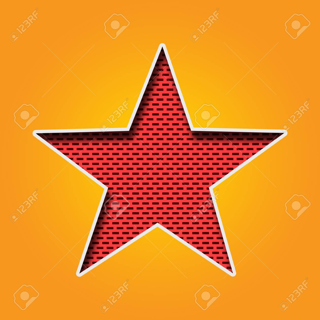 Single Star Icon In Orange And Yellow Color. This Is A Star Icon ...