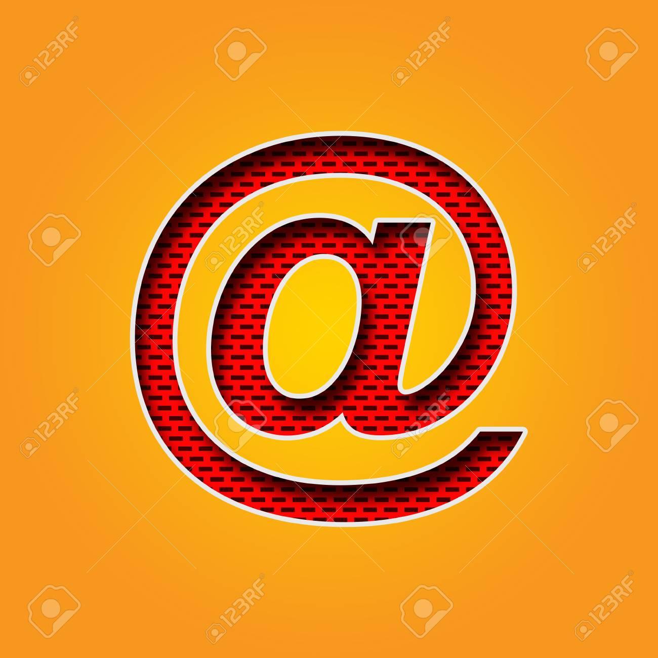 Caractère Unique @ à La Police De Signe Dans L\'alphabet De Couleur ...
