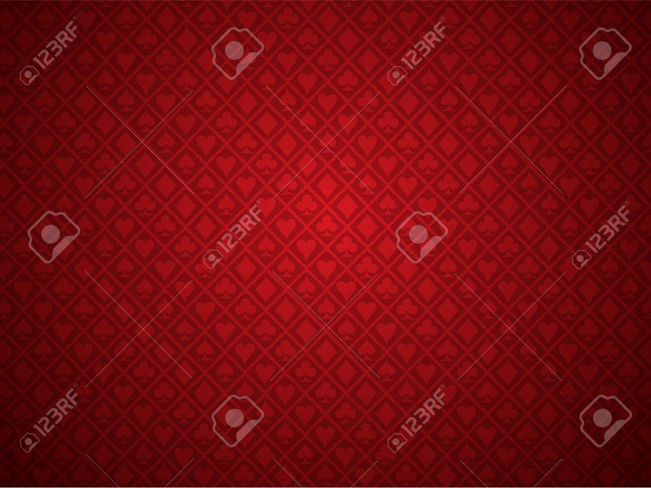 Red Poker Background Stock Vector - 9429506