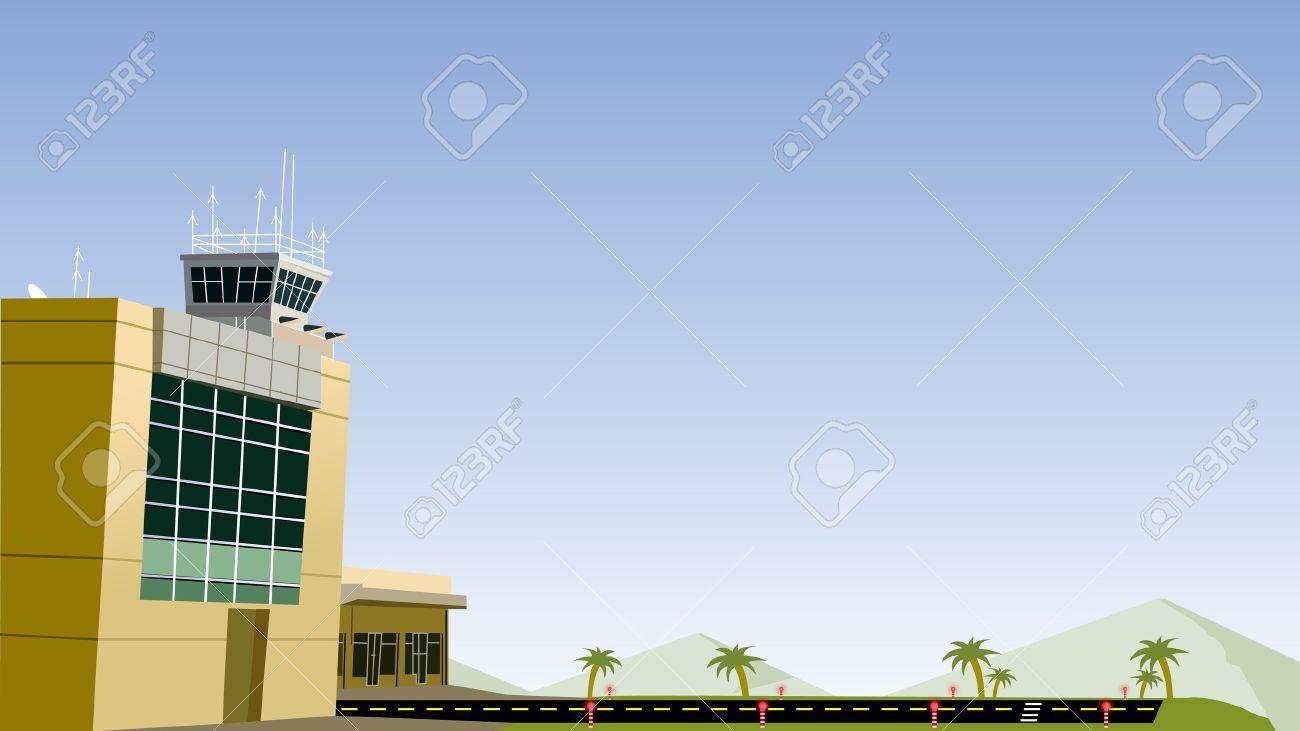 Airport and plane run way Stock Vector - 9482691