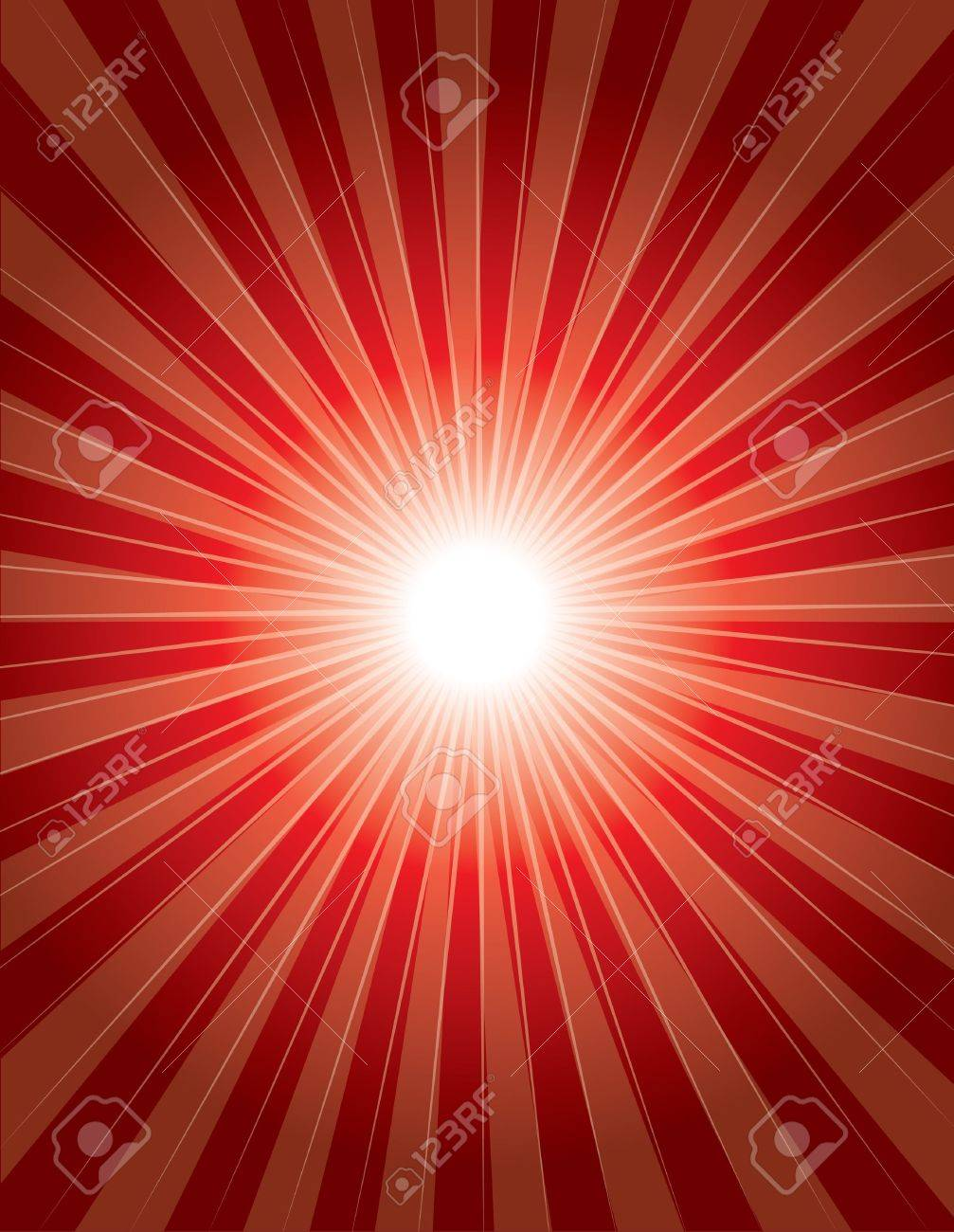 red colorful background with shinning ray Stock Vector - 10429427