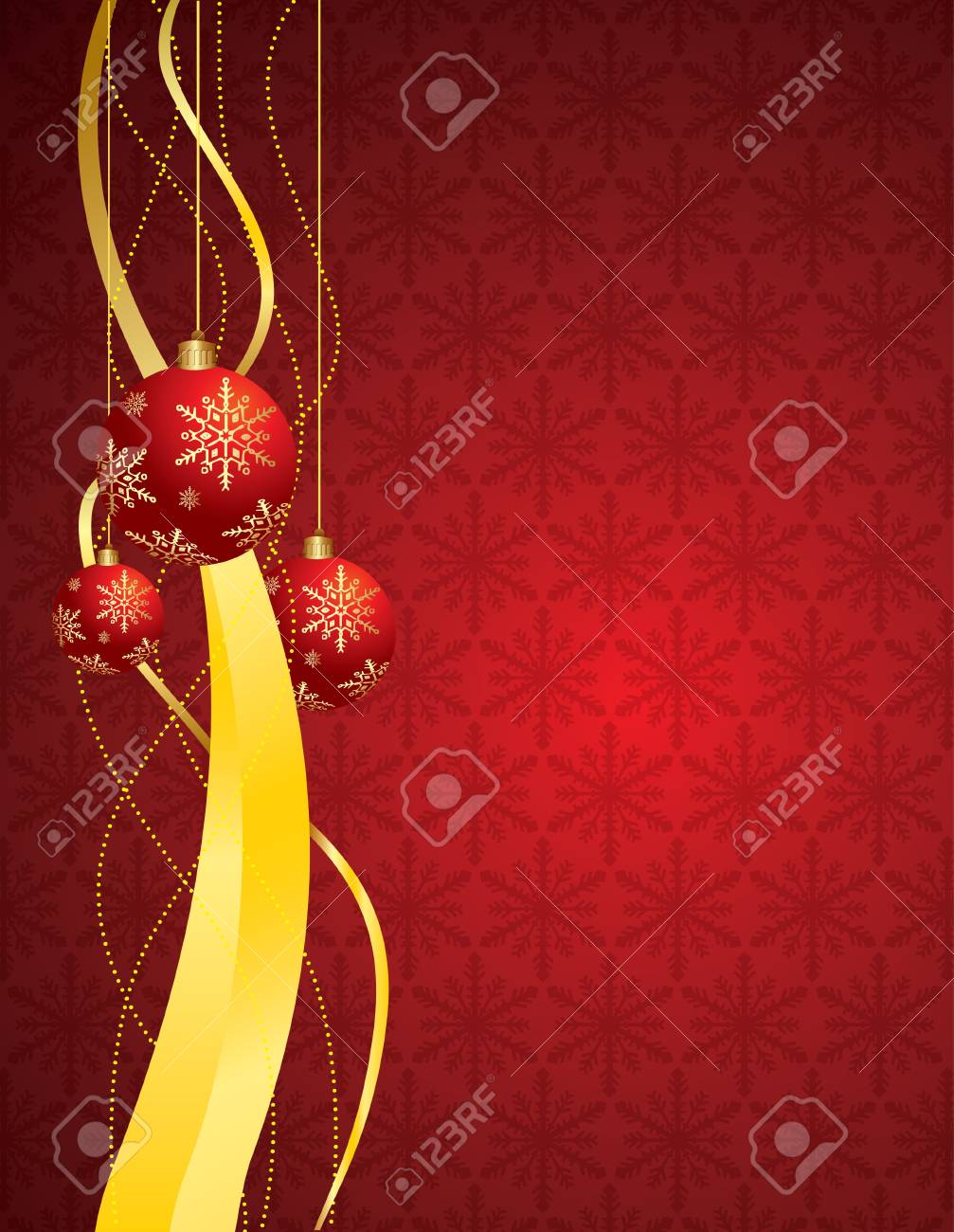 Christmas background with ball Stock Vector - 10591372