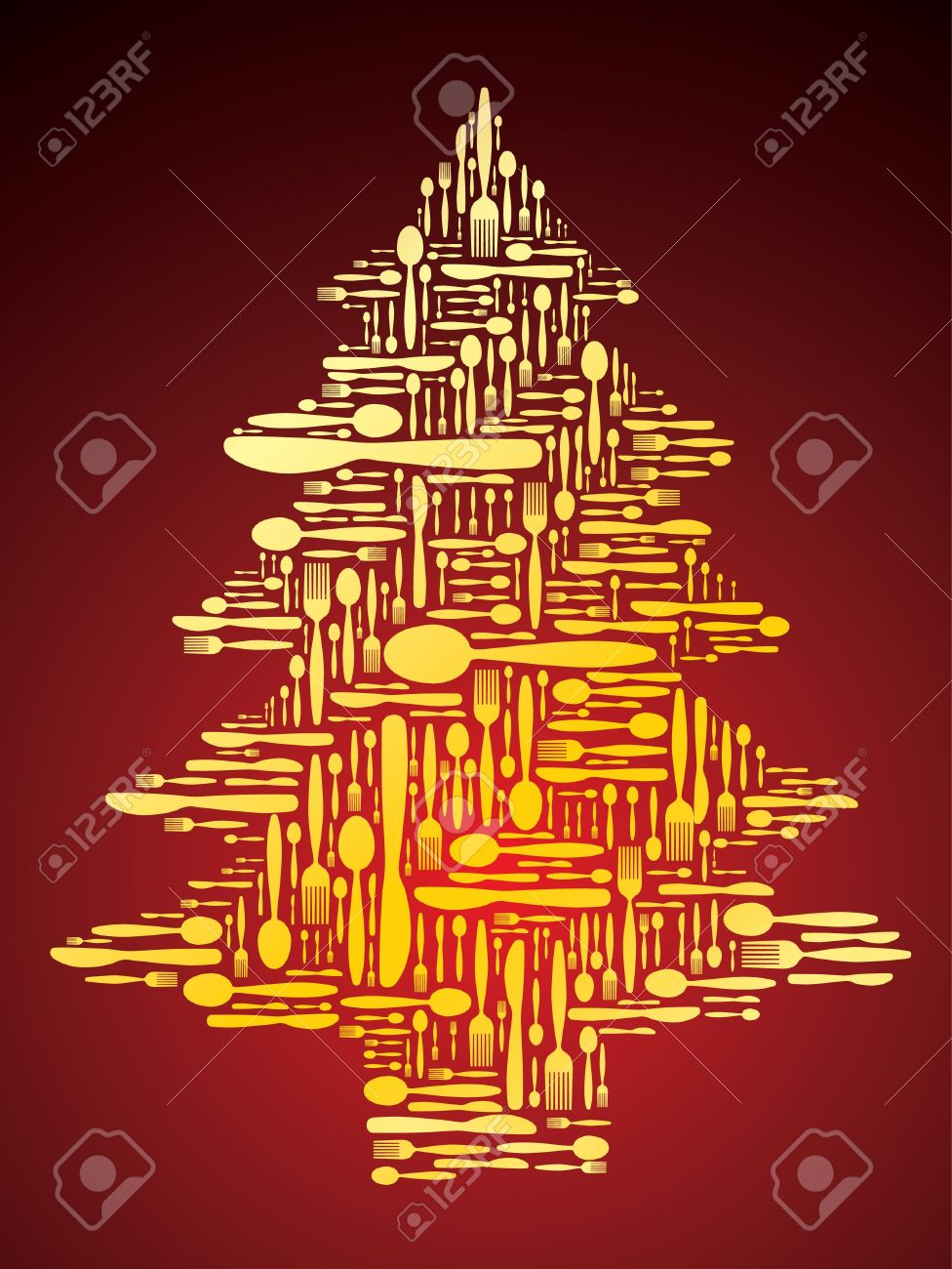 Cutlery as Christmas tree Stock Vector - 10591364