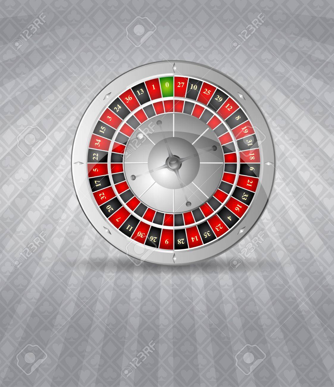 Vector illustration of 3D silver roulette Stock Vector - 11101383