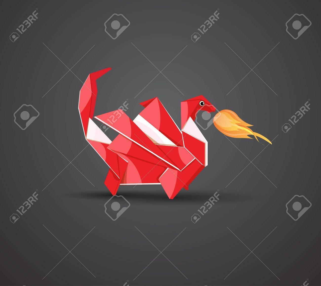 Vector origami dragon Stock Vector - 11575452