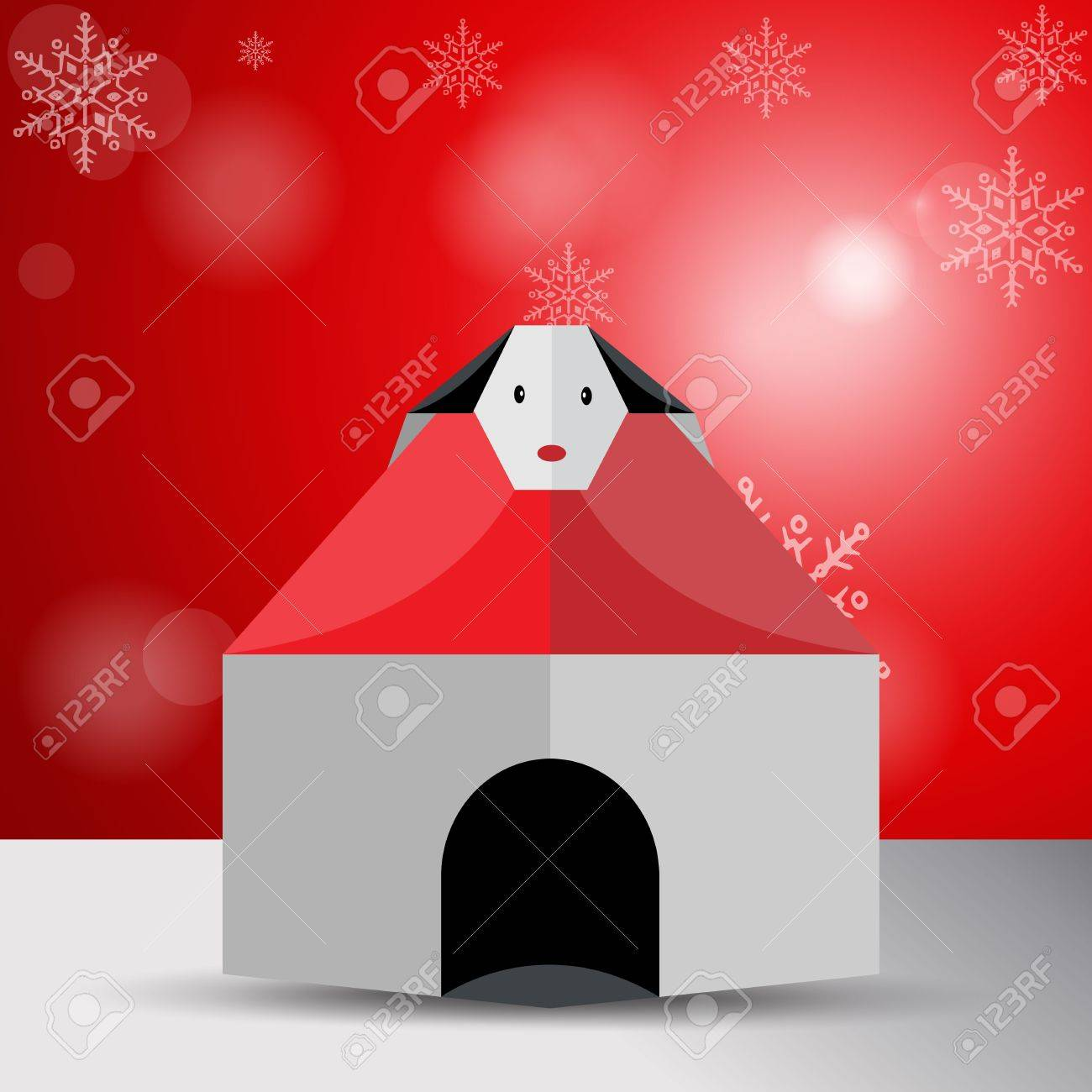 Vector origami house of dog Stock Vector - 11575491