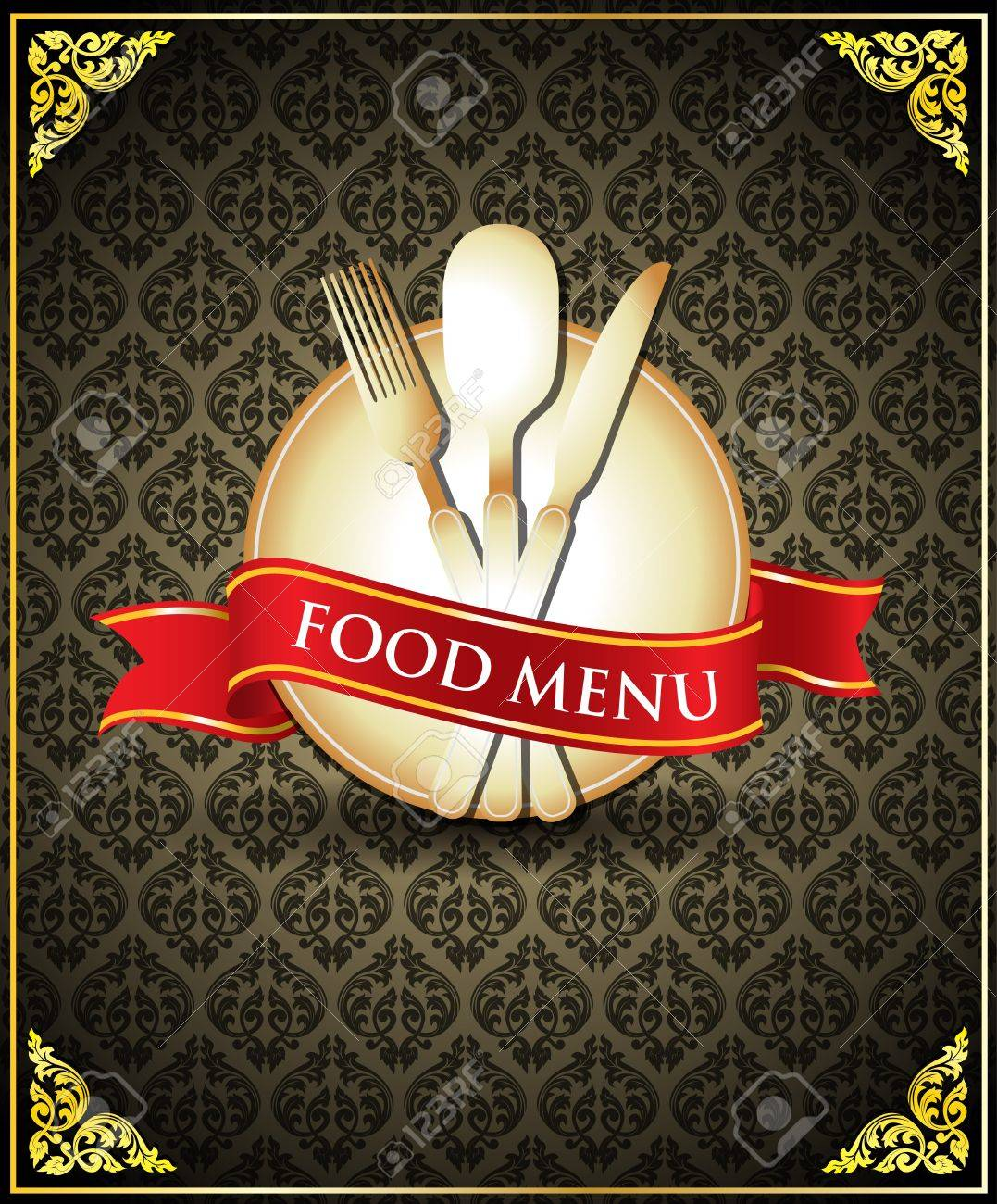 vector food menu cover royalty free cliparts, vectors, and stock