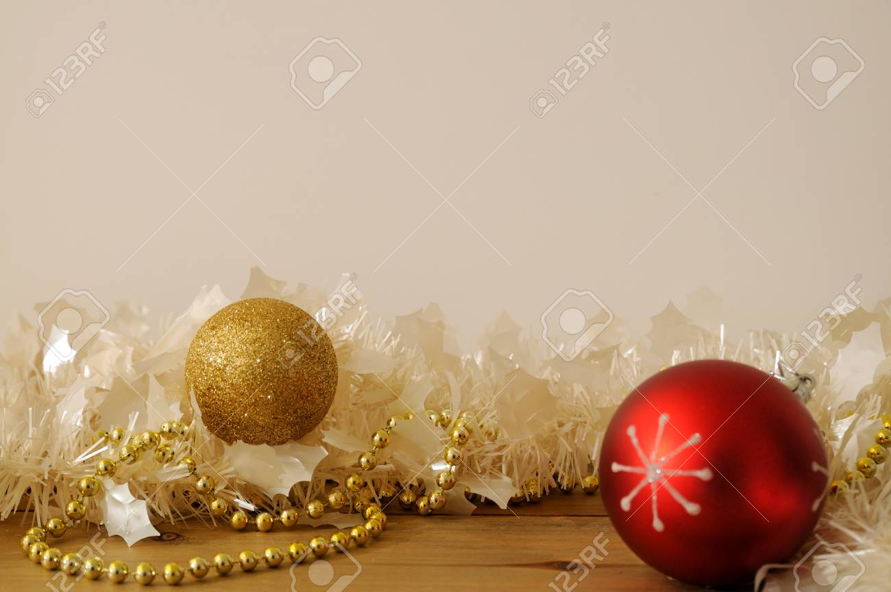 Kranz Christbaumkugeln.Stock Photo