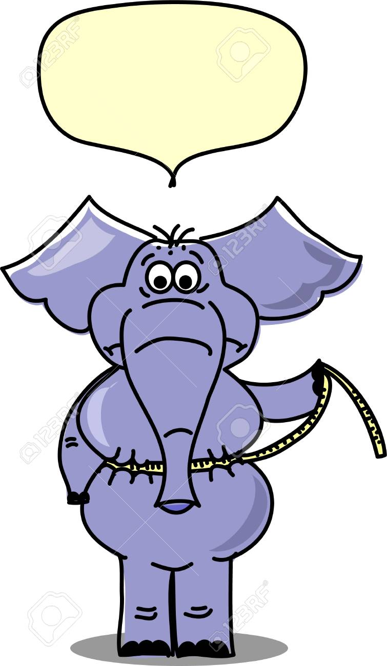 Elephant were measured on how much he lost Stock Vector - 11325397