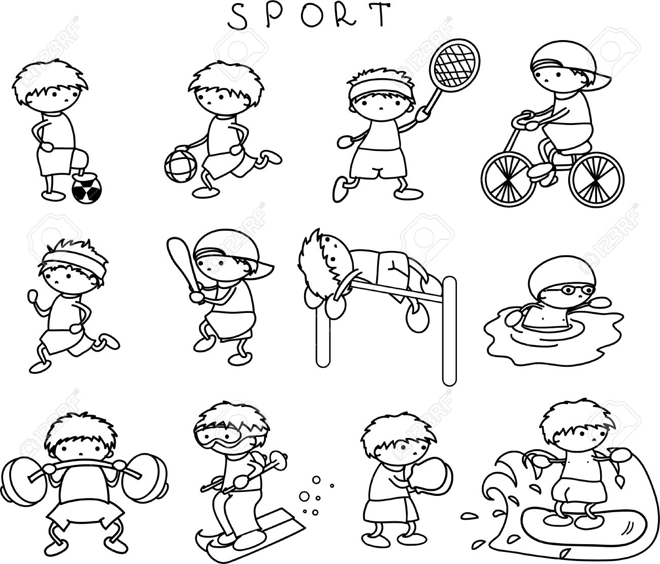 Sports Icons Royalty Free Cliparts Vectors And Stock Illustration Image 11325414