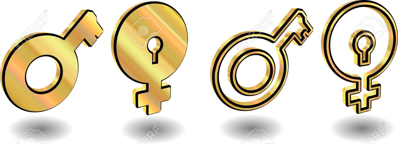 Male and female symbols. Vector illustrations. Stock Vector - 11325620