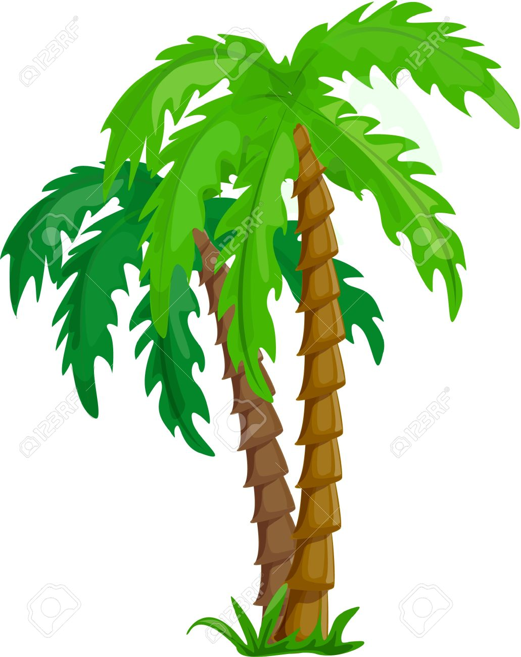 vector tropical palm trees isolated on white royalty free cliparts rh 123rf com vector trees silhouettes vector trees silhouettes