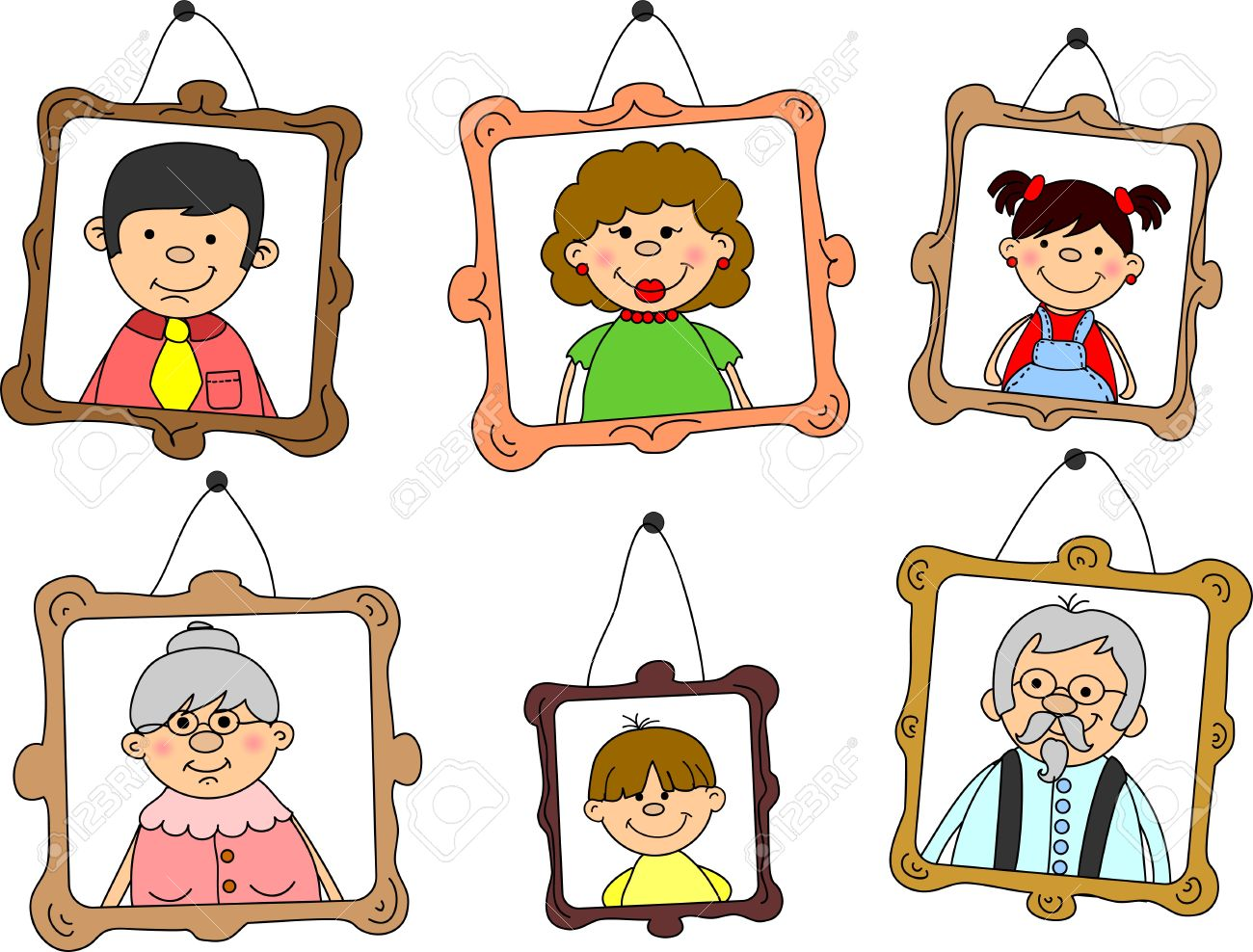 portraits of family Stock Vector - 11325477