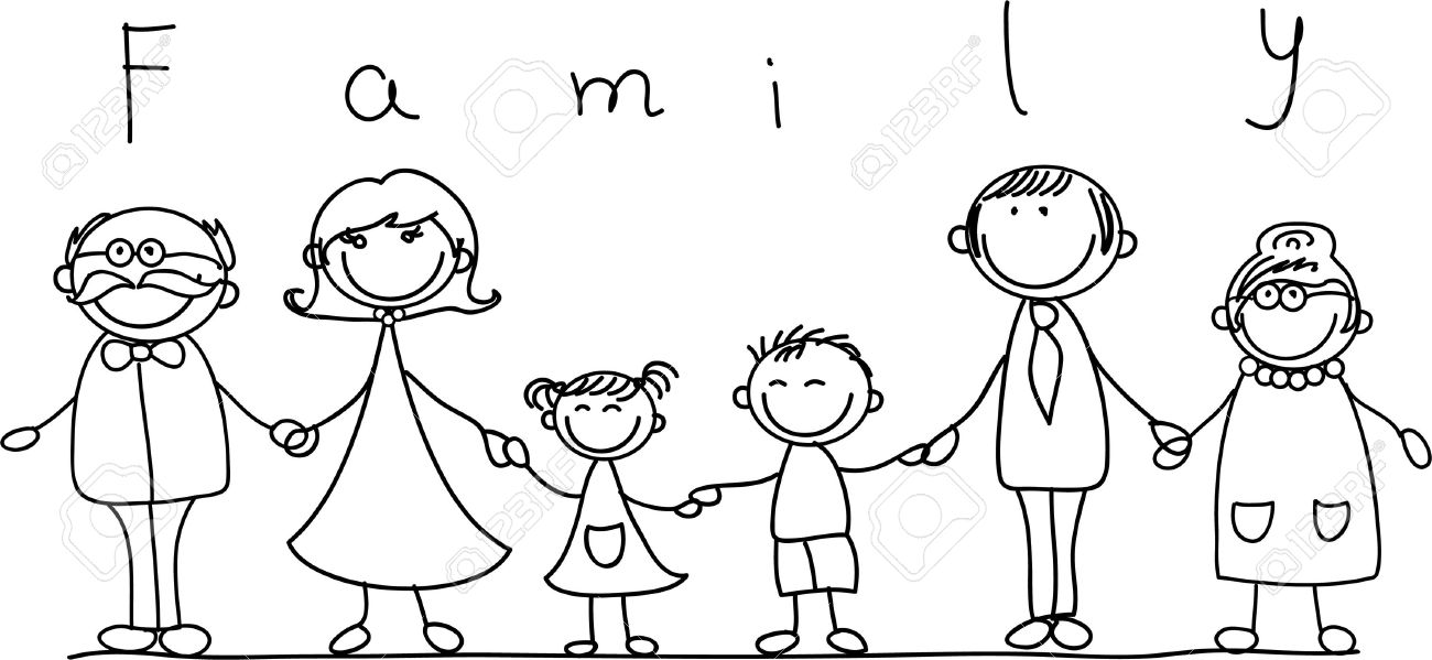 Happy Family Holding Hands And Smiling Royalty Free Cliparts