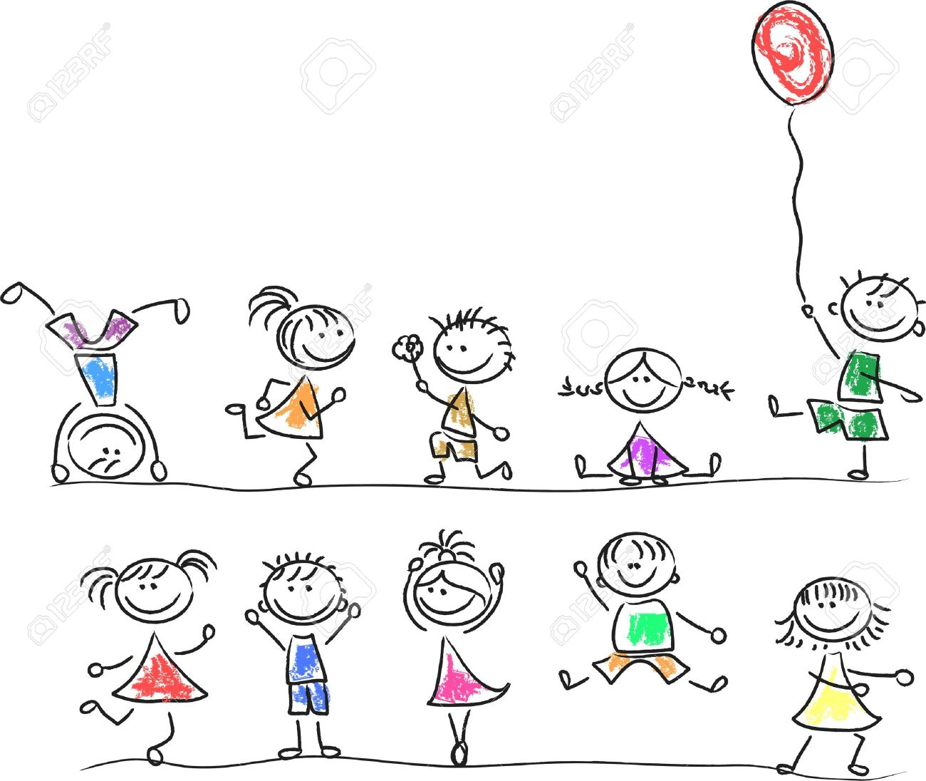 cute happy kids royalty free cliparts vectors and stock