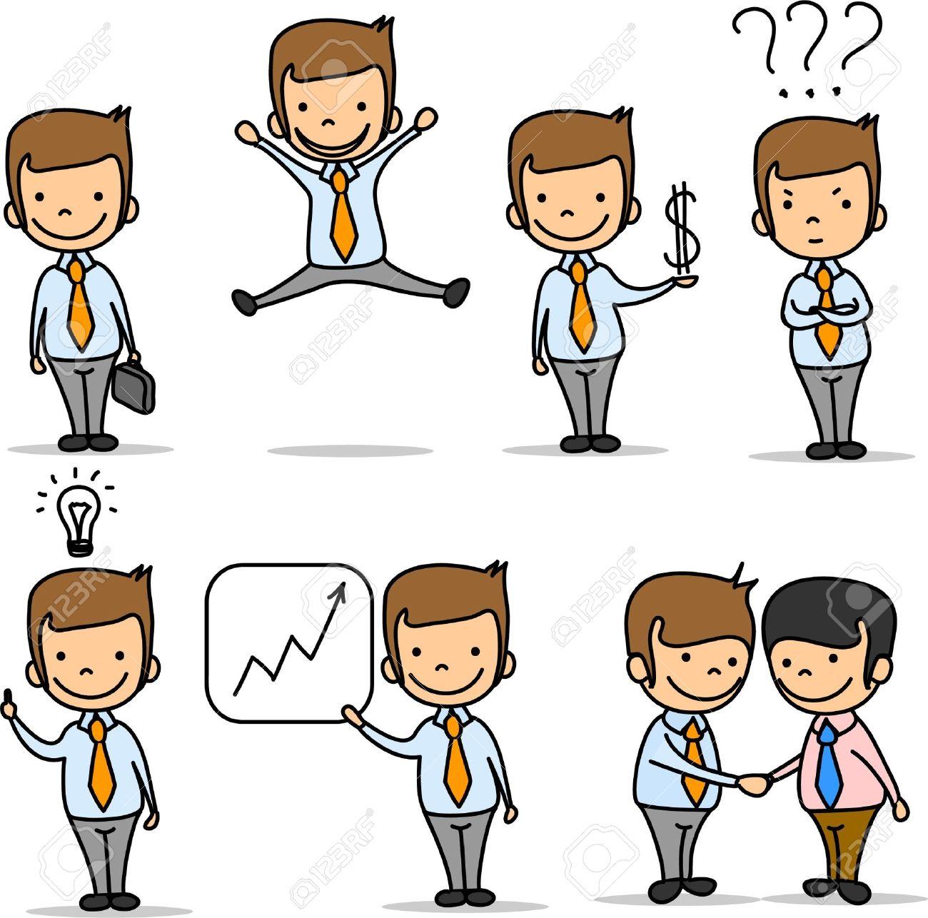 Business team cartoon characters cartoon vector cartoondealer com - Show Business Set Of Funny Cartoon Office Worker Illustration