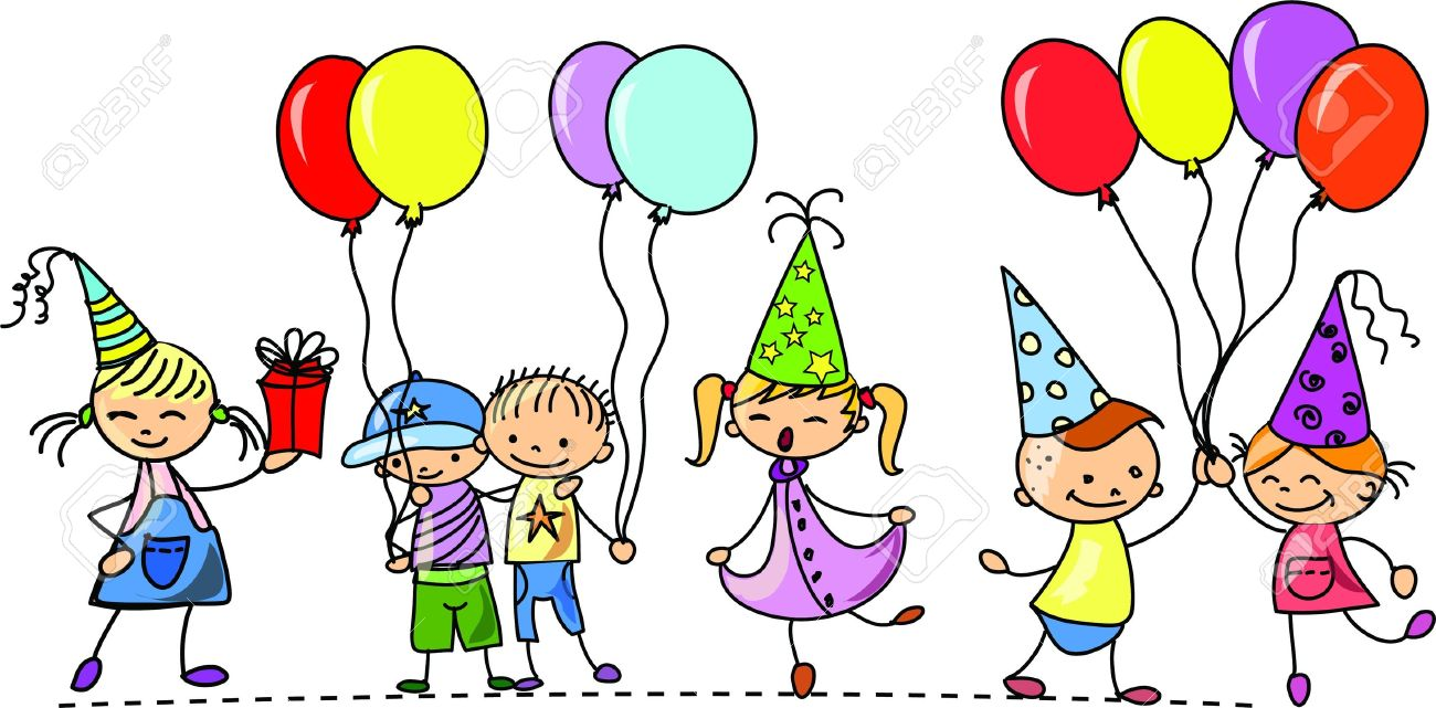 funny children s birthday party royalty free cliparts vectors and rh 123rf com November Birthday Clip Art 50th Birthday Clip Art