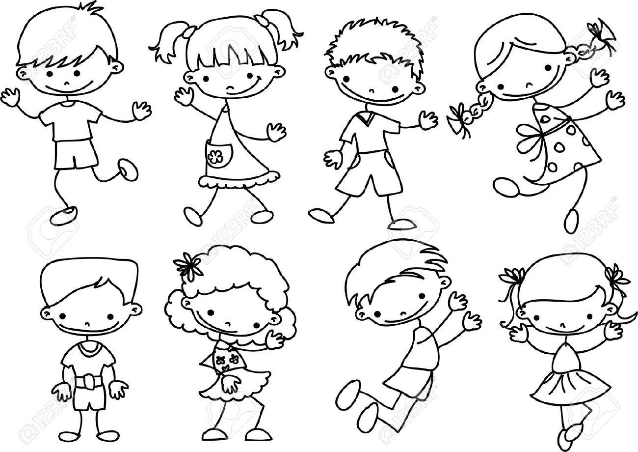 happy cartoon kids Stock Vector - 11499131