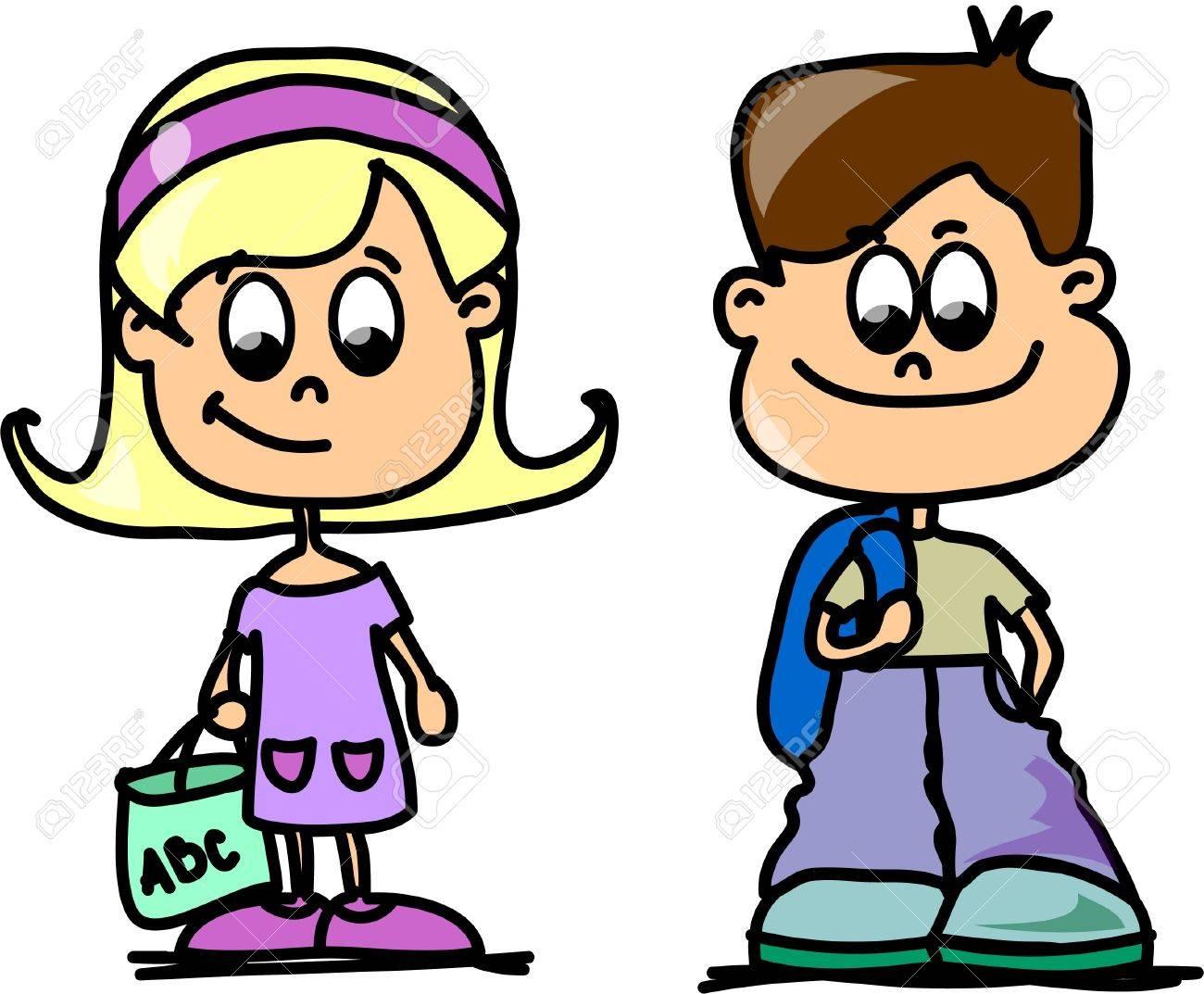 Cartoon kids Stock Vector - 11499135
