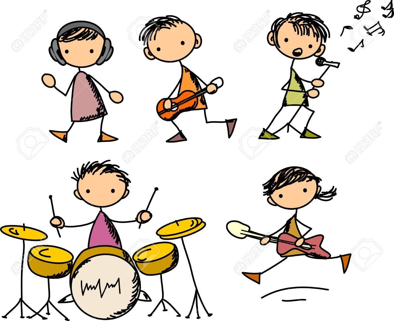 Music Doodles Stock Vector - 11499183
