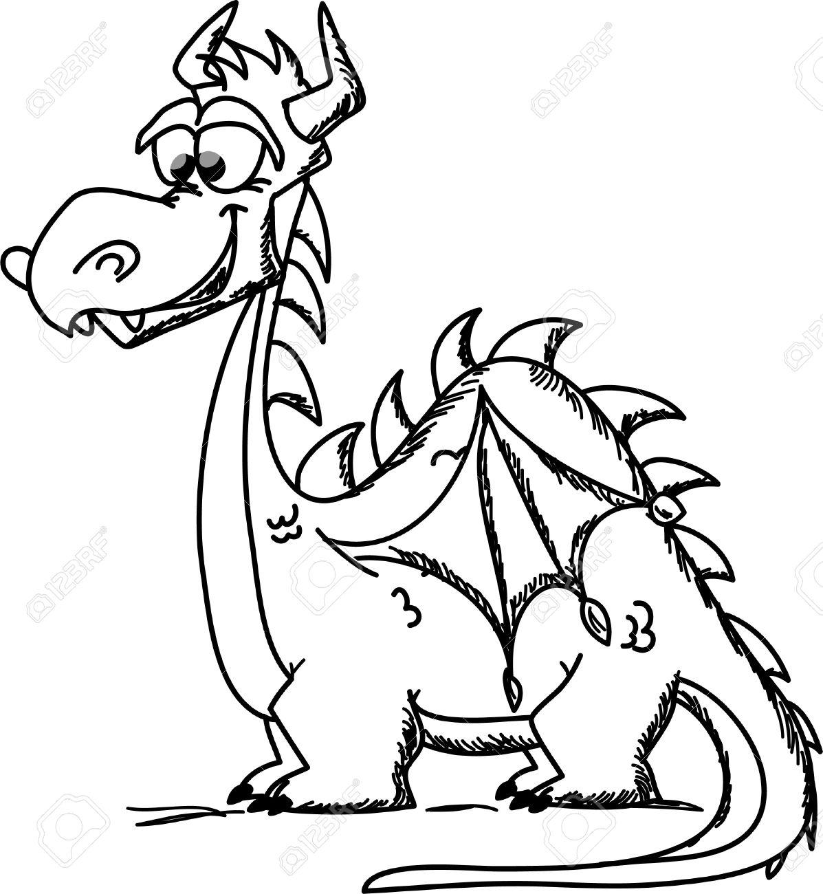 cartoon cute dragon a symbol 2012 royalty free cliparts vectors