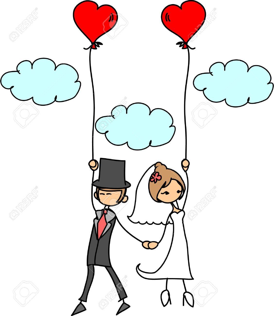 Banque d\u0027images , Photo de mariage de dessin animé