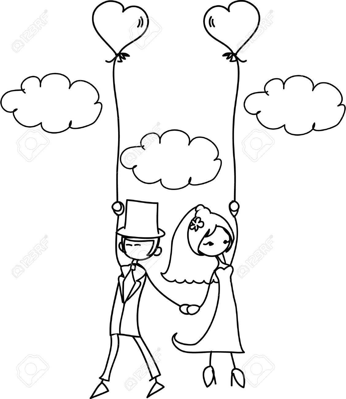 banque dimages photo de mariage de dessin anim - Dessin Mariage