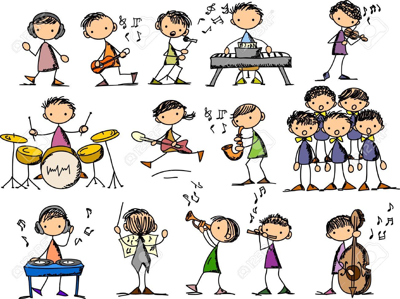 set of Music Doodles Stock Vector - 11499265