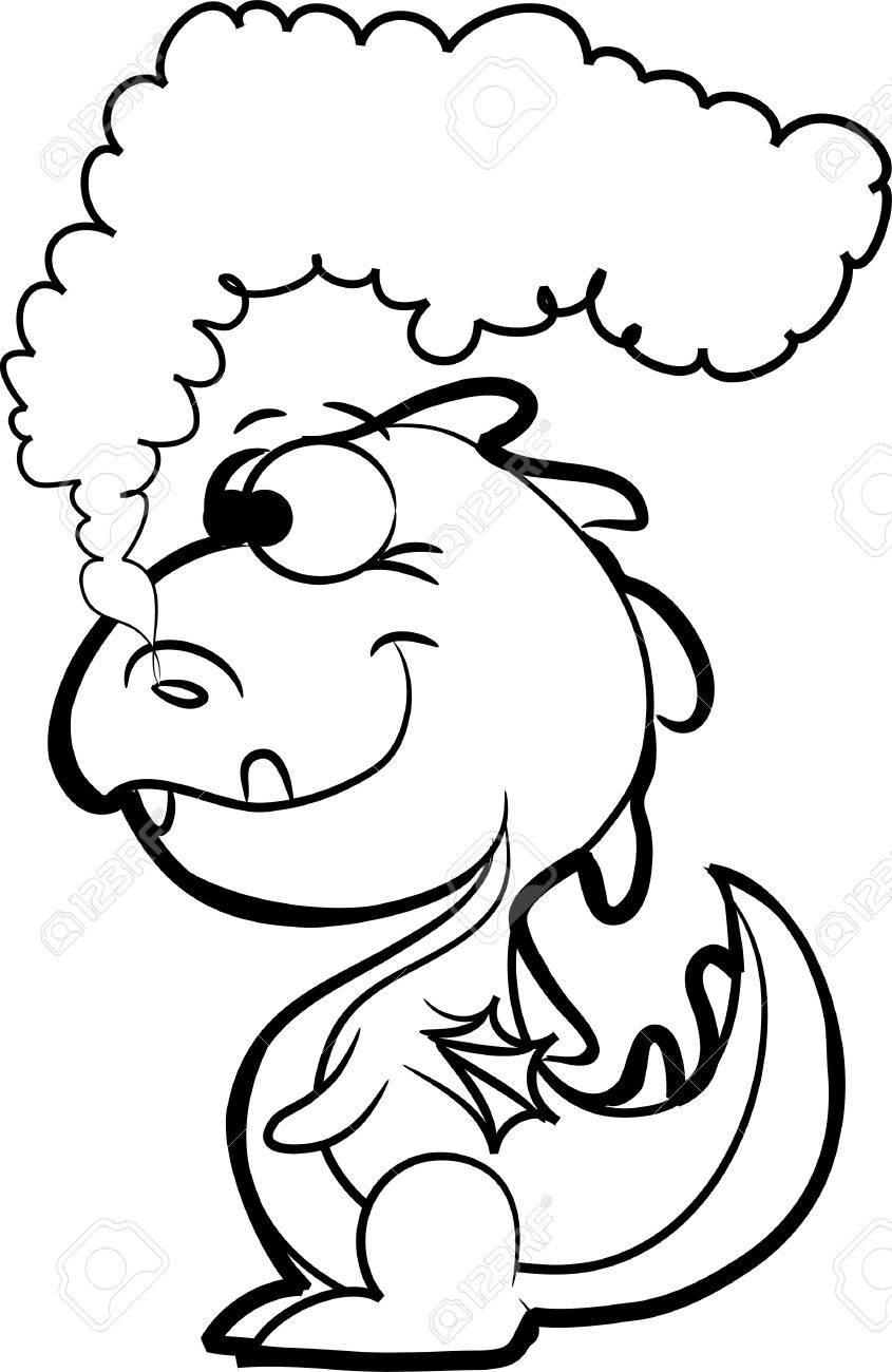 Cartoon cute dragon Stock Vector - 11499222