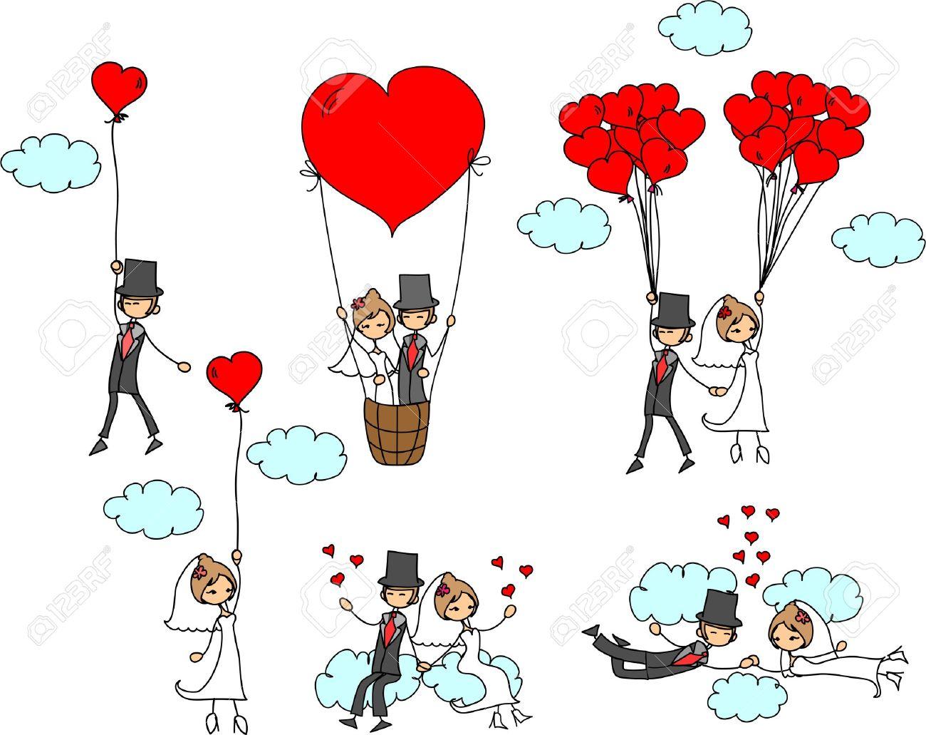 banque dimages photos de mariage de dessin anim - Dessin Mariage