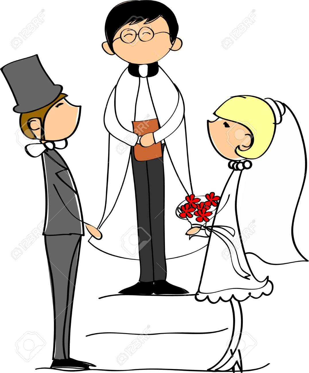 wedding picture, bride and groom in love Stock Vector - 11499280