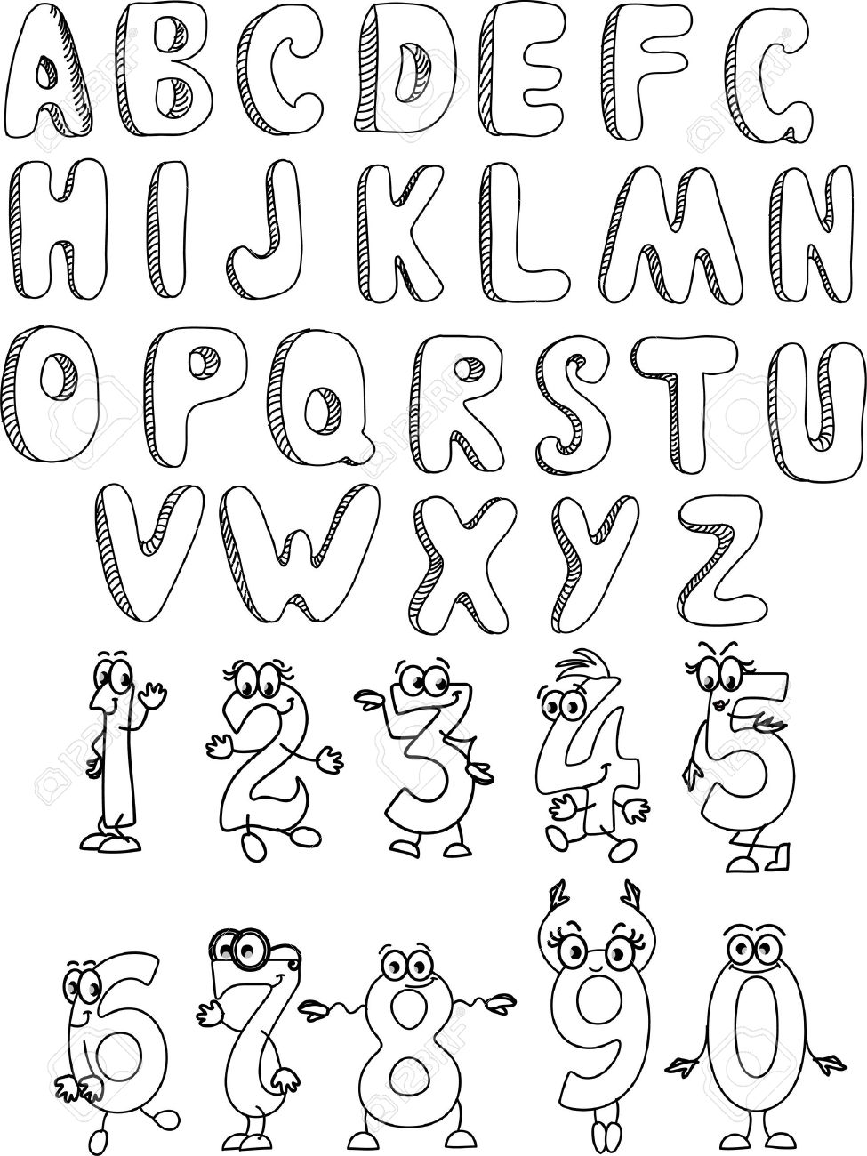 The alphabet and numbers for your design Stock Vector - 11499374