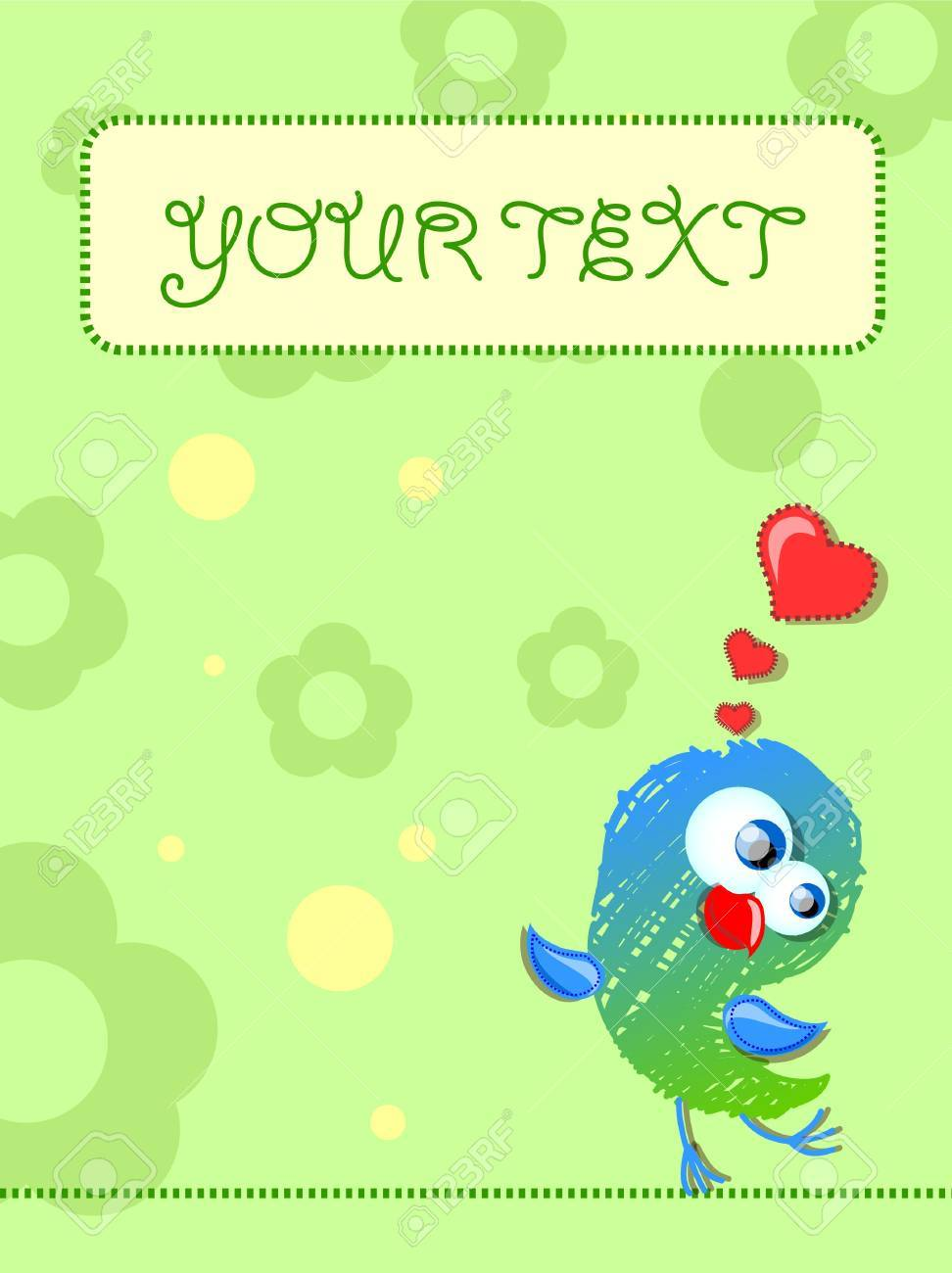 Lovely birds, card for your design Stock Vector - 11499399