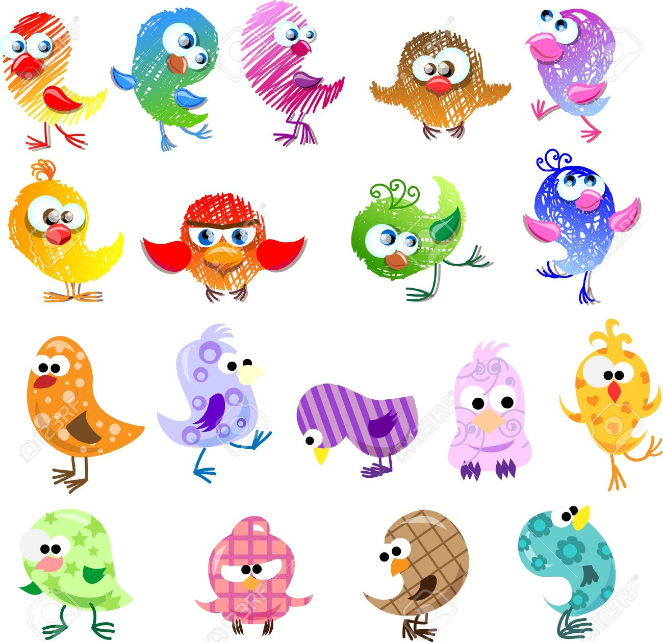 lovely birds for your design royalty free cliparts vectors and