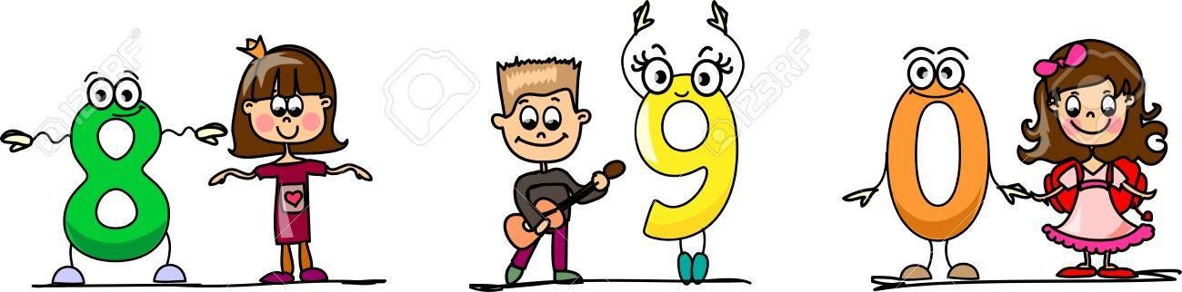 Cartoon numbers Stock Vector - 11659551