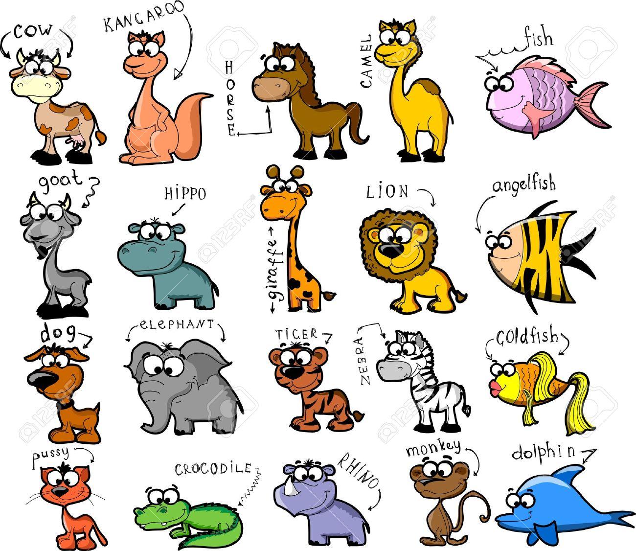 Big set of cartoon animals Stock Vector - 11920243
