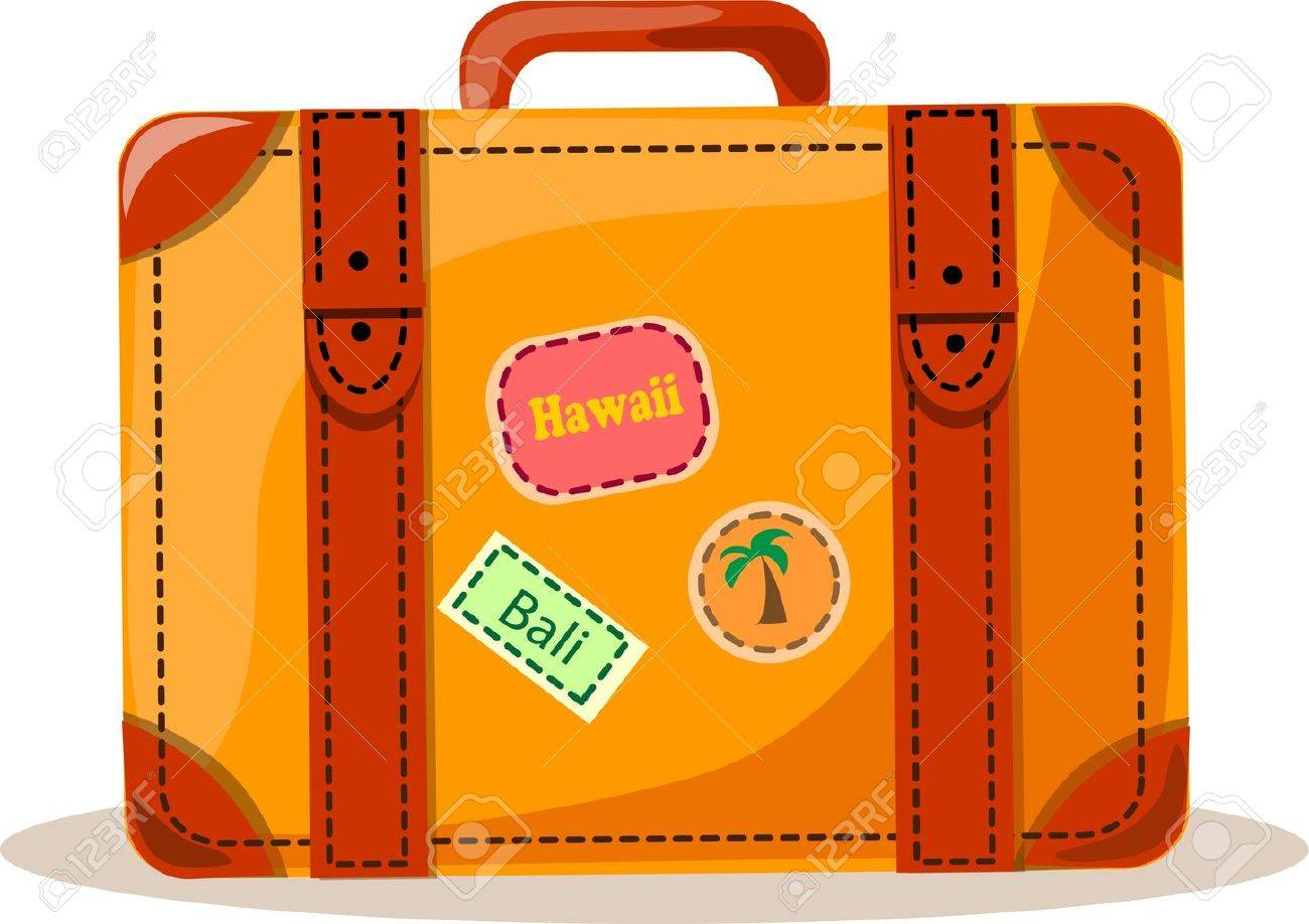 Travel background, suitcase Stock Vector - 12480309
