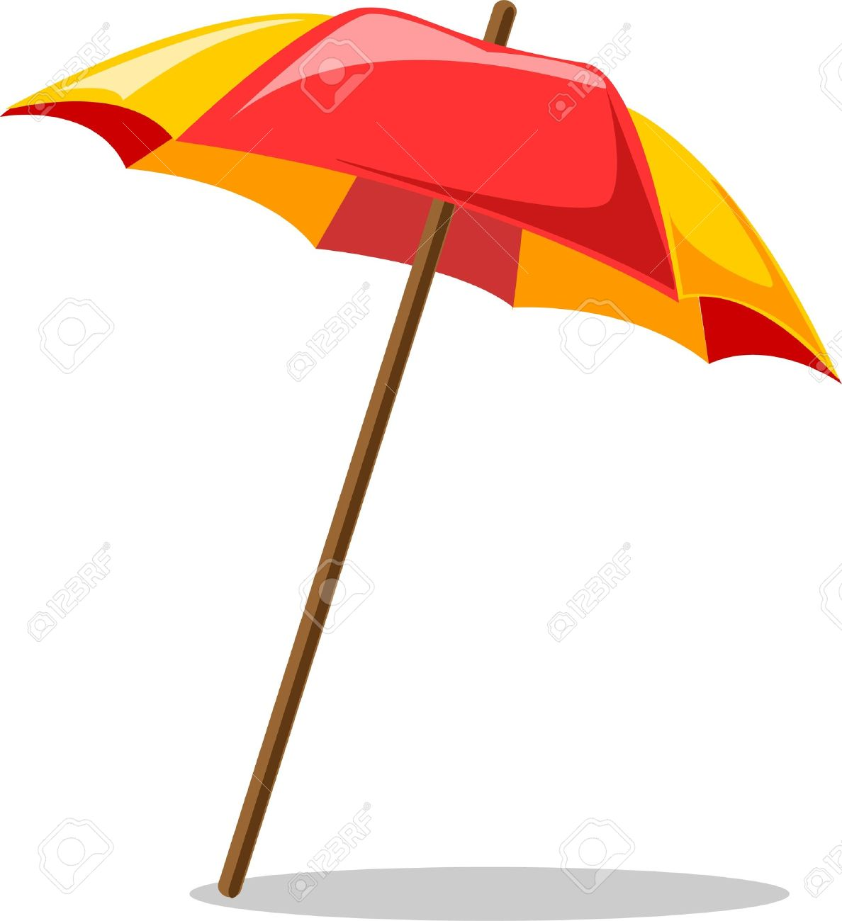 Image of: Beach Umbrella With Beach Umbrella Stock Vector 12480629 Beach Umbrella Royalty Free Cliparts Vectors And