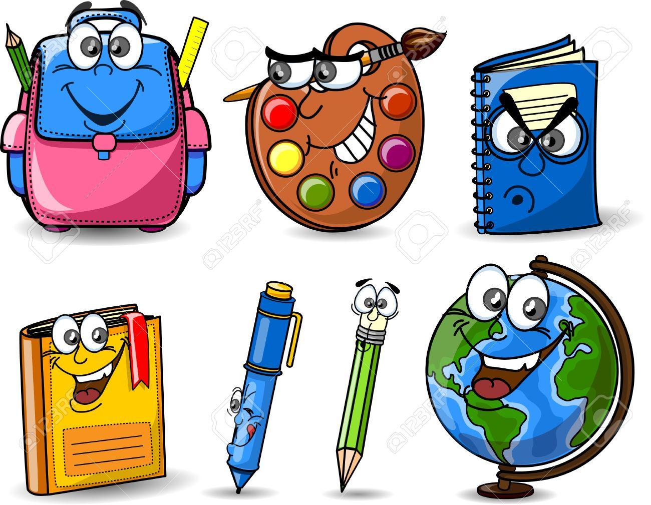 Dibujos Bolsas Escolares, Lápices, Libros, Cuadernos Ilustraciones ...