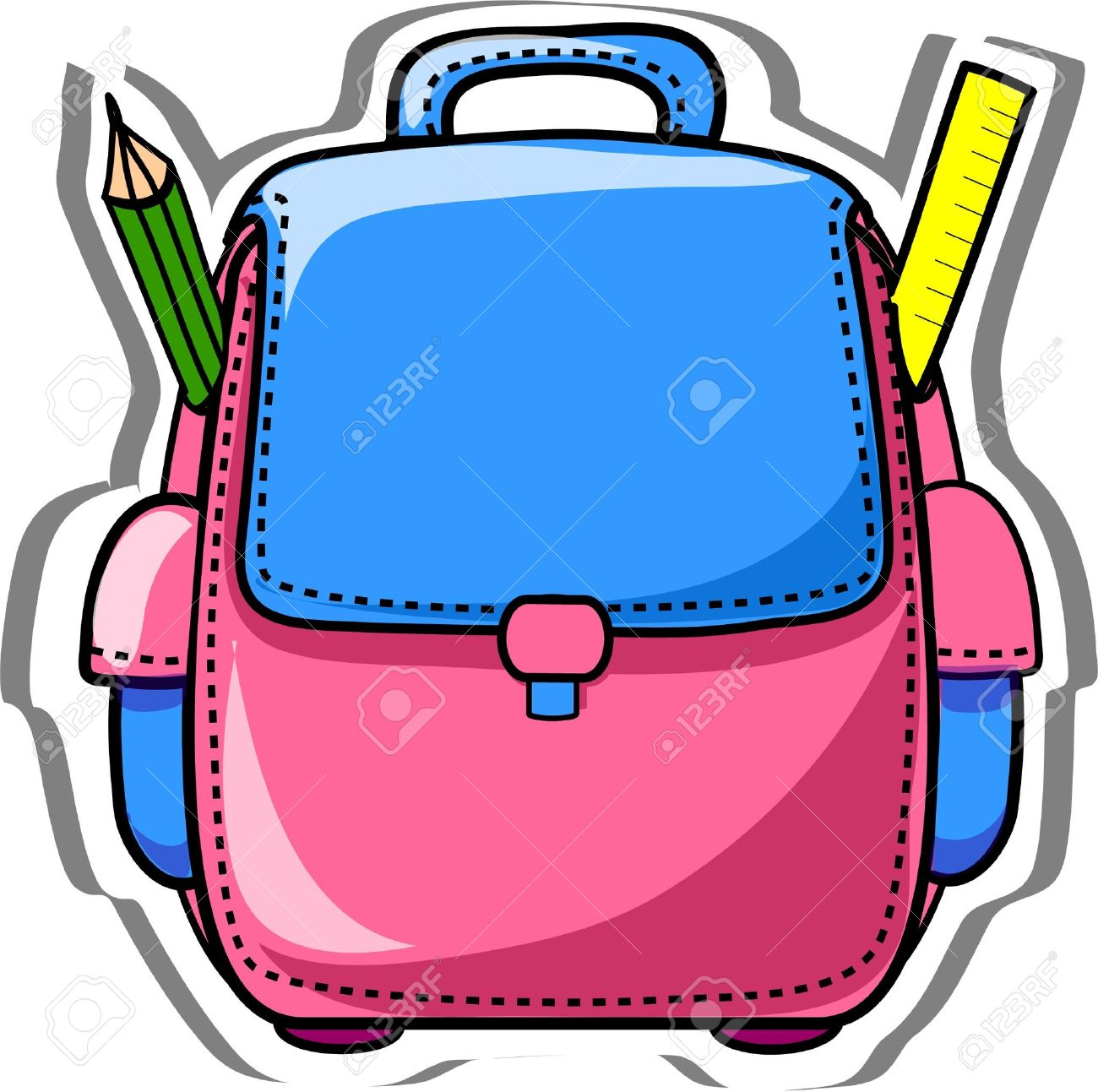 cartoon school bag royalty free cliparts vectors and stock rh 123rf com school backpacks clipart school bag clipart free