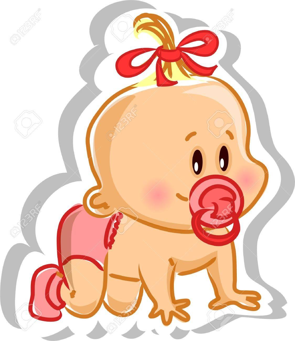 Vector illustration of baby girl Stock Vector - 13027561