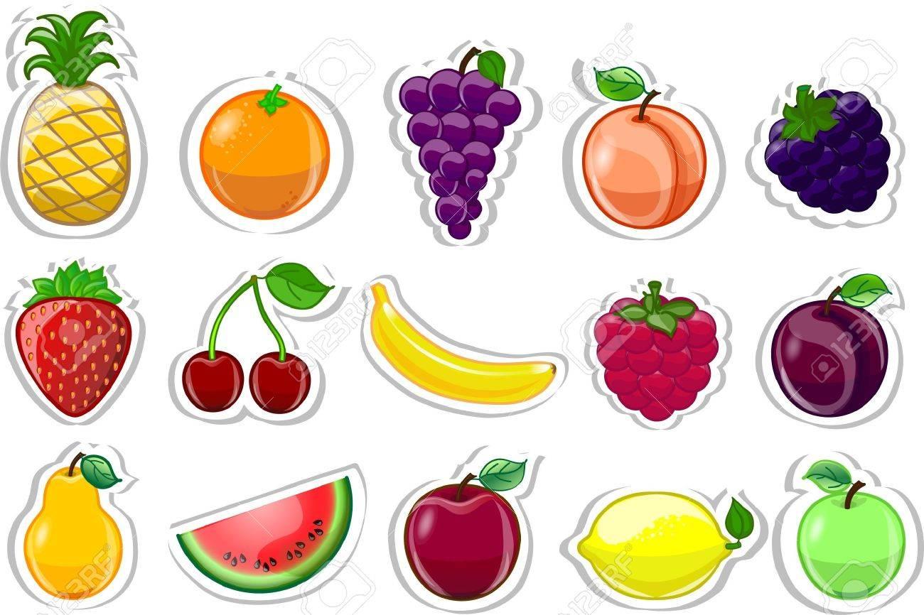 Cartoon fruits - 13125487
